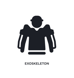 Exoskeleton isolated icon simple element from vector