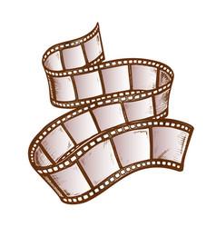filmstrip for old video camera color vector image