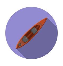 Flat design modern of kayak icon camping hiking vector