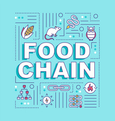 Food chain word concepts banner metabolic process vector