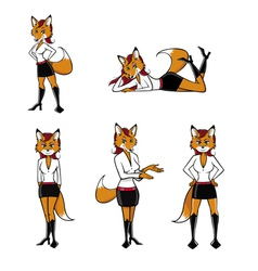 fox sexy poses vector image