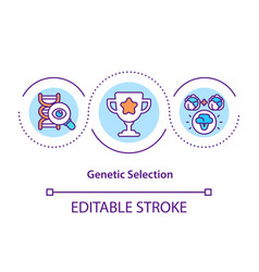 Genetic selection concept icon vector
