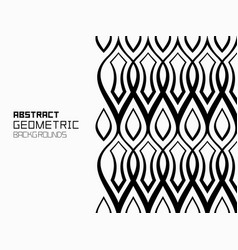 geometric background with ornament of wavy lines vector image