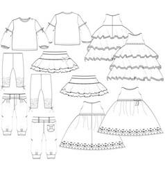 Girls garment vector
