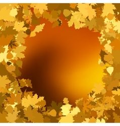 Gold autumn background with leaves EPS 8 vector