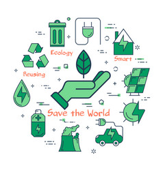 green save the world concept vector image