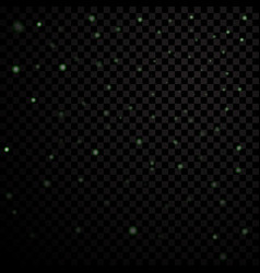 Green stars black night sky on transparent vector