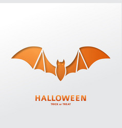 halloween greeting card template vector image vector image
