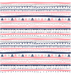 hand drawn seamless ethnic pattern vector image