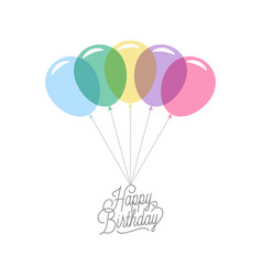 happy birthday card birthday banner on white vector image