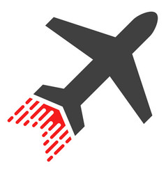 jet liner with fast speed effect vector image