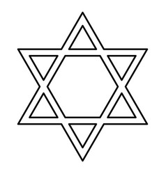 jewish star of david black color icon vector image