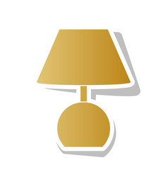 Lamp sign golden gradient vector