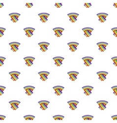 LGBT flag pattern cartoon style vector image