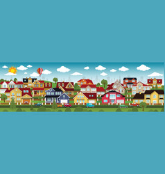 Life in the suburbs summer day vector