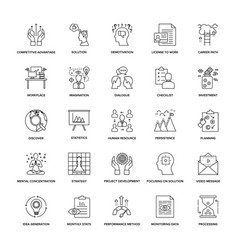 Line icons project management pack vector