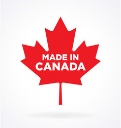 made in canada maple leaf logo icon vector image
