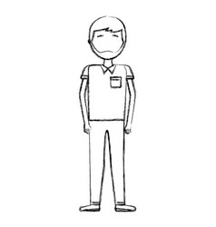 man male standing character cartoon vector image