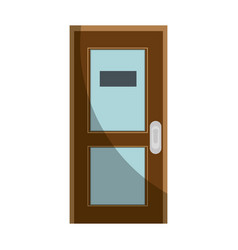 Office door isolated vector