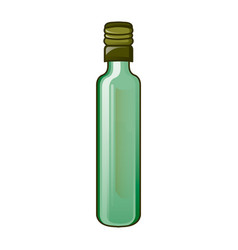 olive virgin oil bottle icon cartoon style vector image