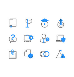 online business and services color icons set vector image