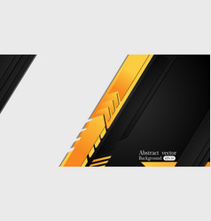 orange yellow and black abstract business vector image