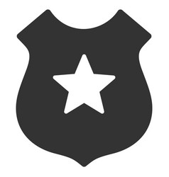 police shield flat icon vector image
