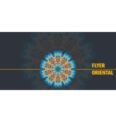 Print Flayer template design Abstract Retro Ornate vector