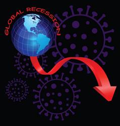 representation financial worldwide recession vector image