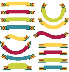 ribbons labels set vector image