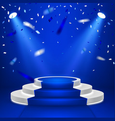 round stage podium stage backdrop festive podium vector image
