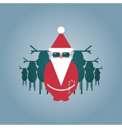 Santa and his Reindeer Gang vector image