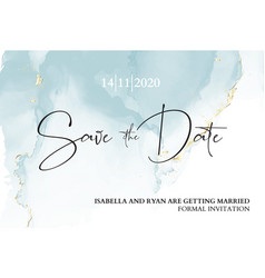 Save date wedding invitation mable blue vector