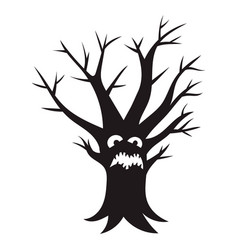 scary tree icon simple style vector image