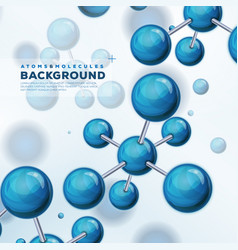 science background with atoms and molecules vector image