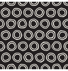 Seamless Black and White Hand Drawn Circles vector