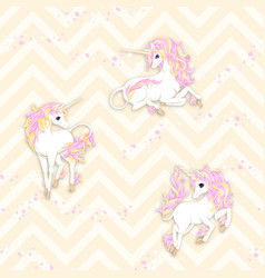 seamless pattern background with unicorn vector image
