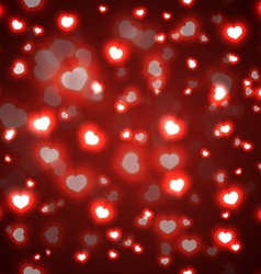 Seamless red valentine background vector image