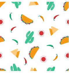 Seamless taco pattern vector