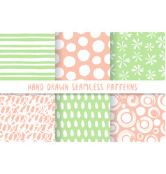 set six stylish patterns vector image