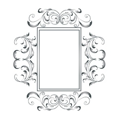 Sliver victorian frame vector