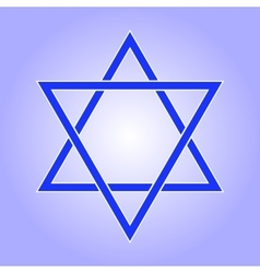 Star of david icon vector