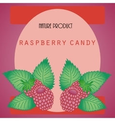 Sticker with raspberry vector image