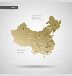 Stylized china map vector