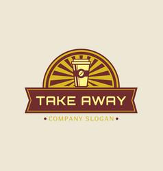 Take away concept coffee logo vector