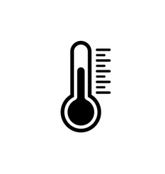 temperature icon in flat style chill symbol vector image