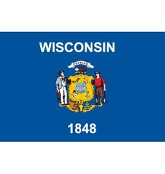 Wisconsin flag vector