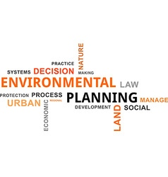 Word cloud environmental planning vector
