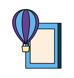 world book day hot air balloon vector image