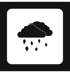Clouds and hail icon simple style vector image